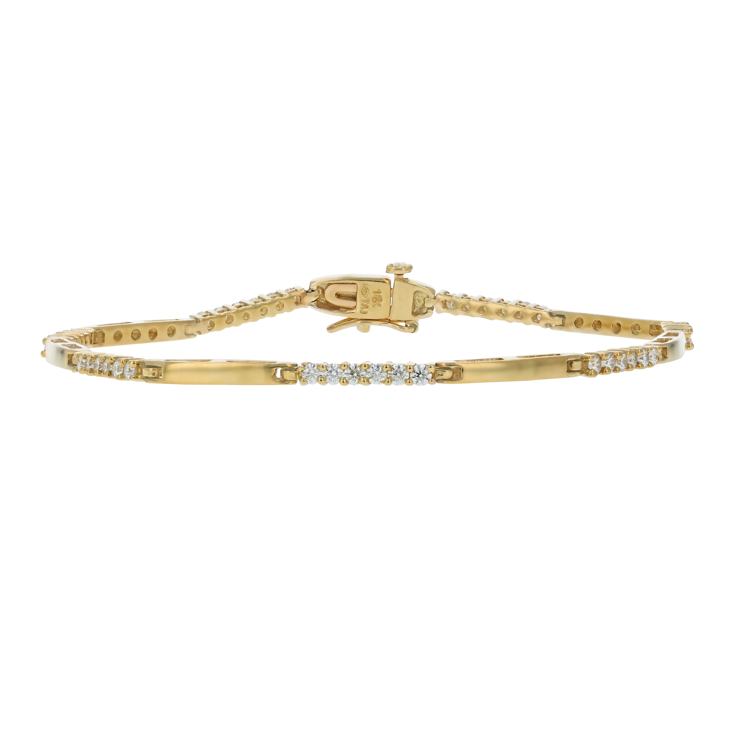 diamond bracelet loading itm tennis ct image g certified h yellow gold is ags