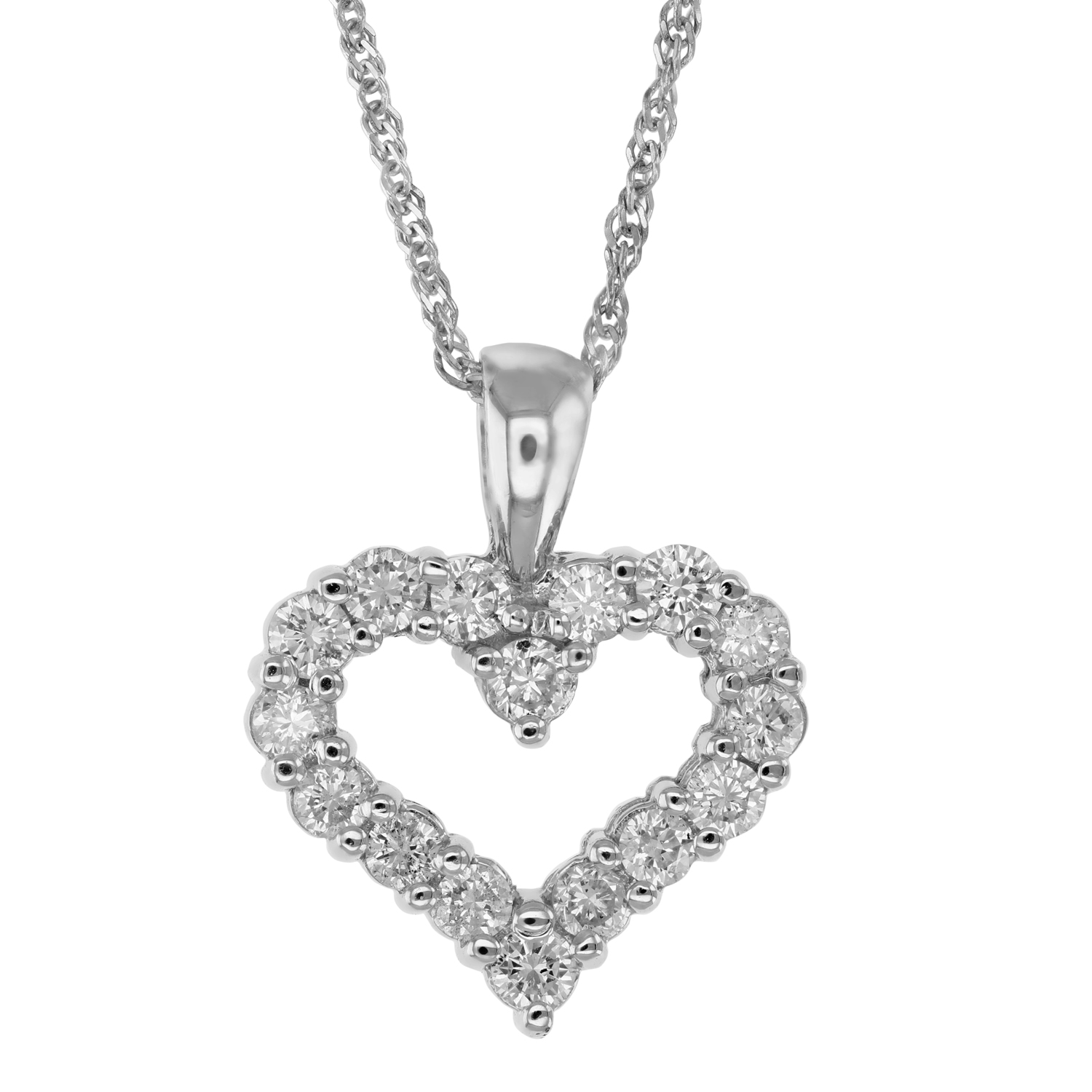 platinum in kite step diamond tw cut halo necklace