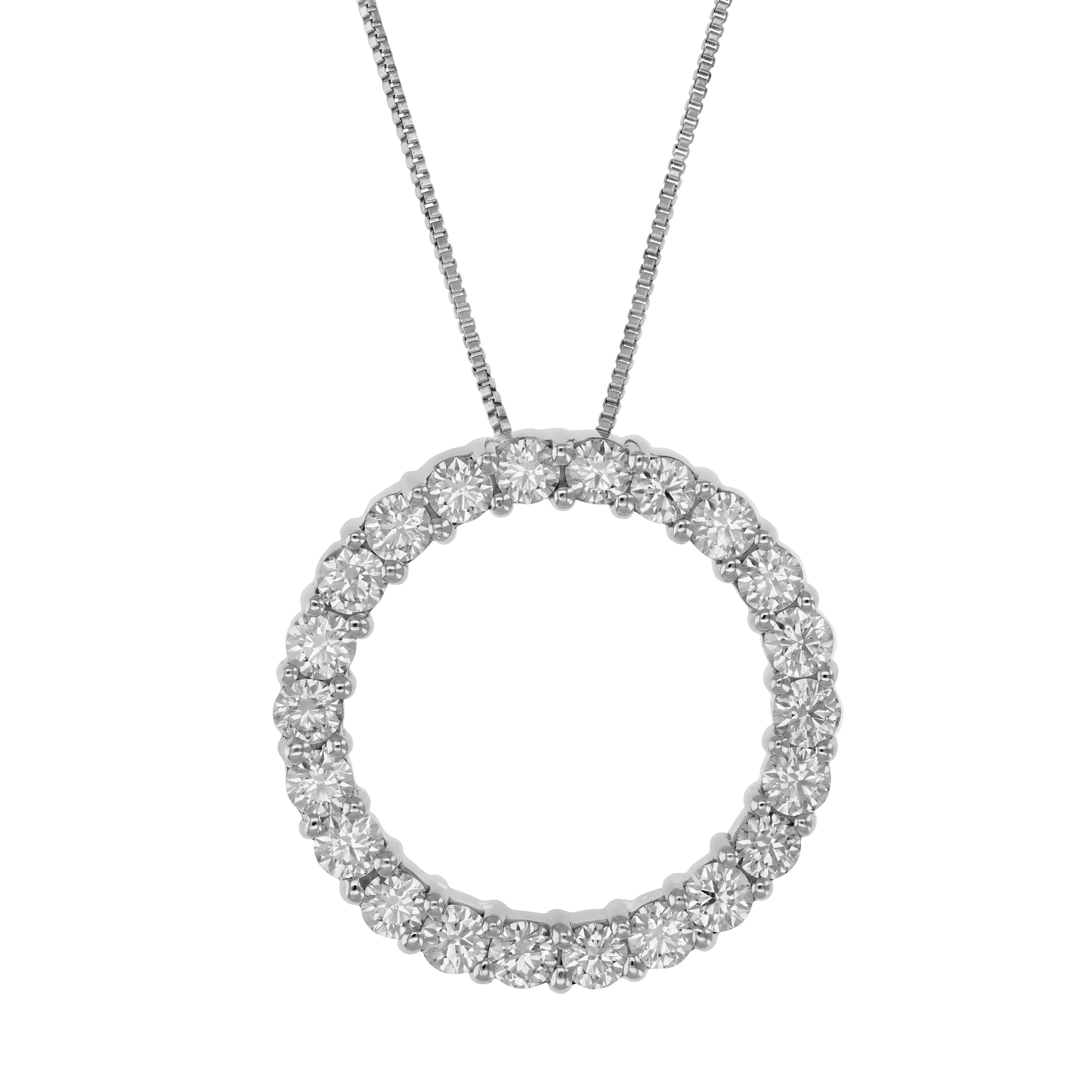 womens gold open circle necklace white image diamond necklaces from avanti