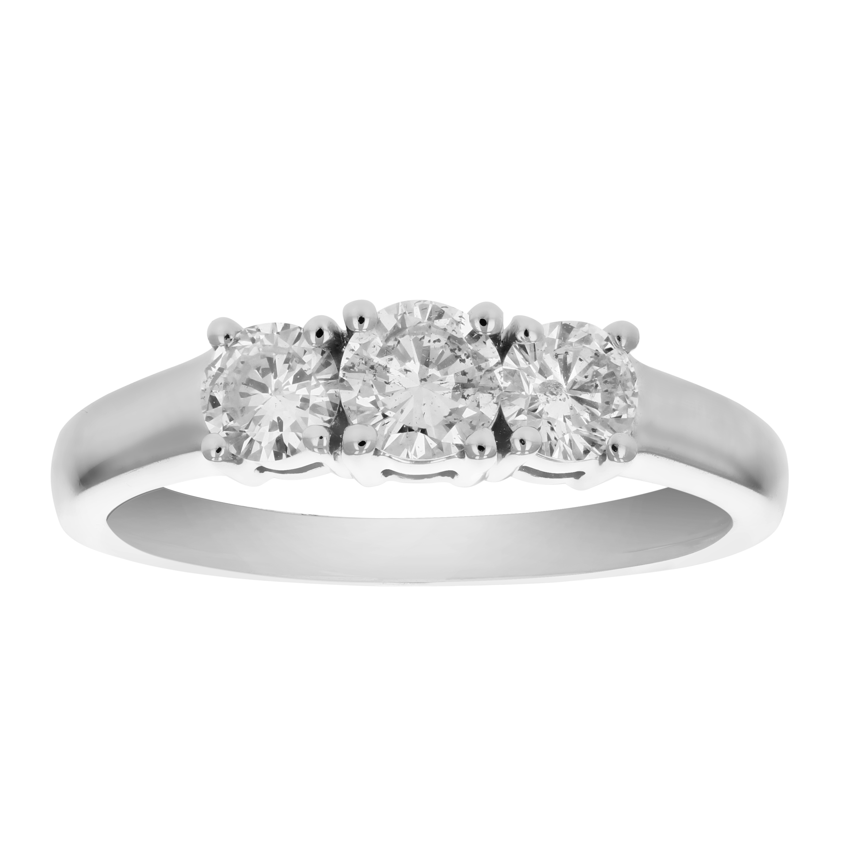 stone set in ring cut three ct princess diamonds gold engagement white d twt with channel jewellery diamond