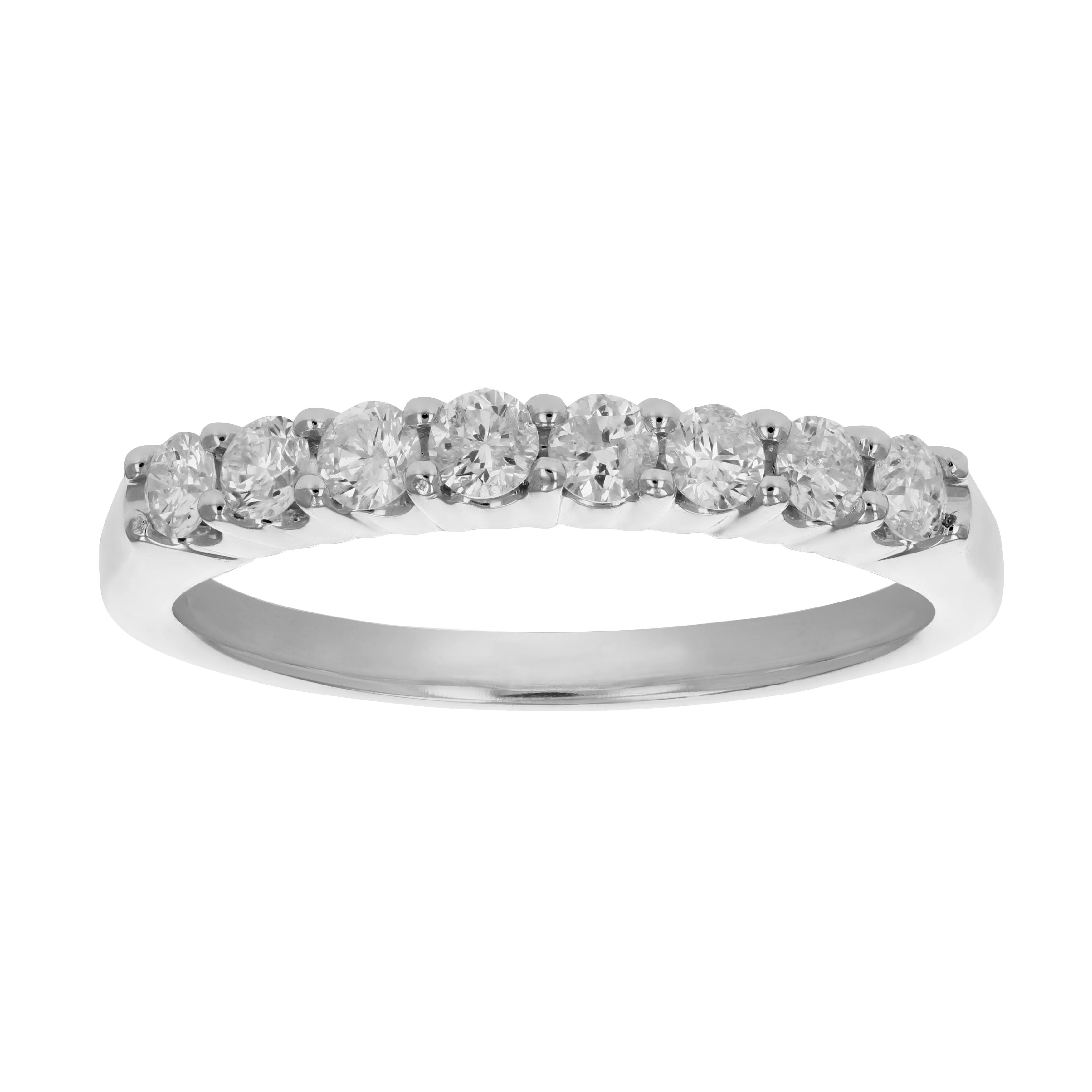 83fba5af2ac16 Details about 1/2 cttw Certified I1-I2 Diamond Wedding Band Prong Set in  14K Gold