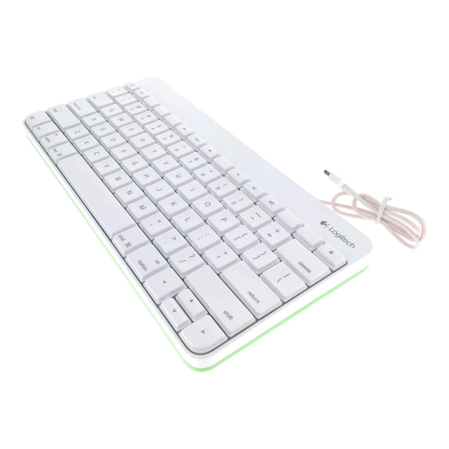 Details about Logitech Wired Keyboard for Apple iPad 1 2 3 with 30-Pin  Connector White & Green