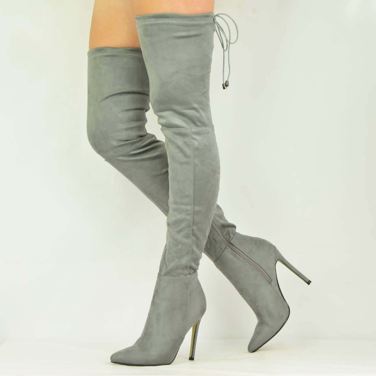 womens stiletto heel the knee thigh high boots