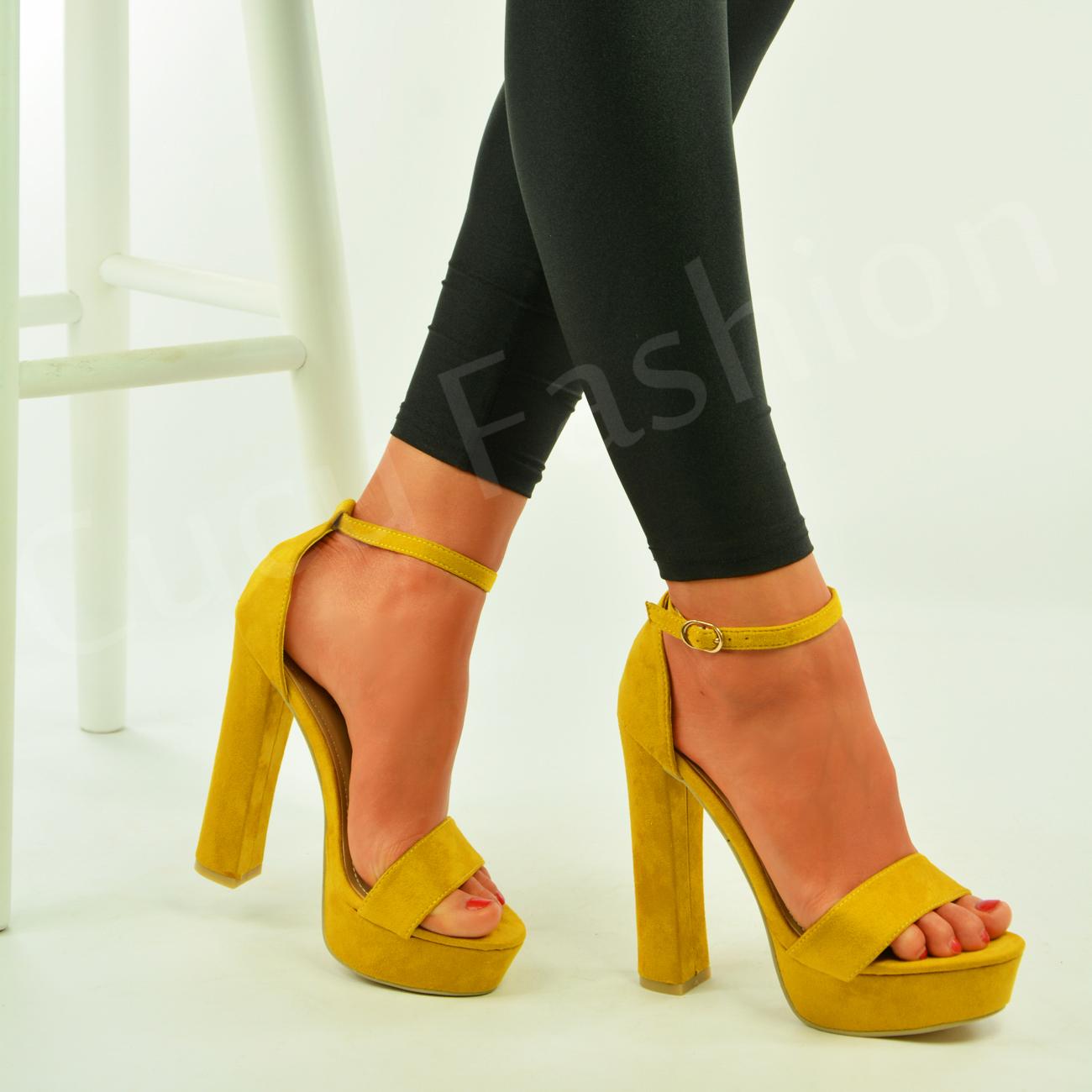 Yellow Open Toe Shoes