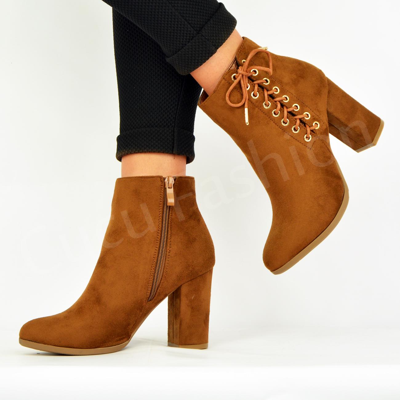 f59707a62 Nuevo Para Mujer Damas Botas al tobillo Botines Zapatos Taco de ...