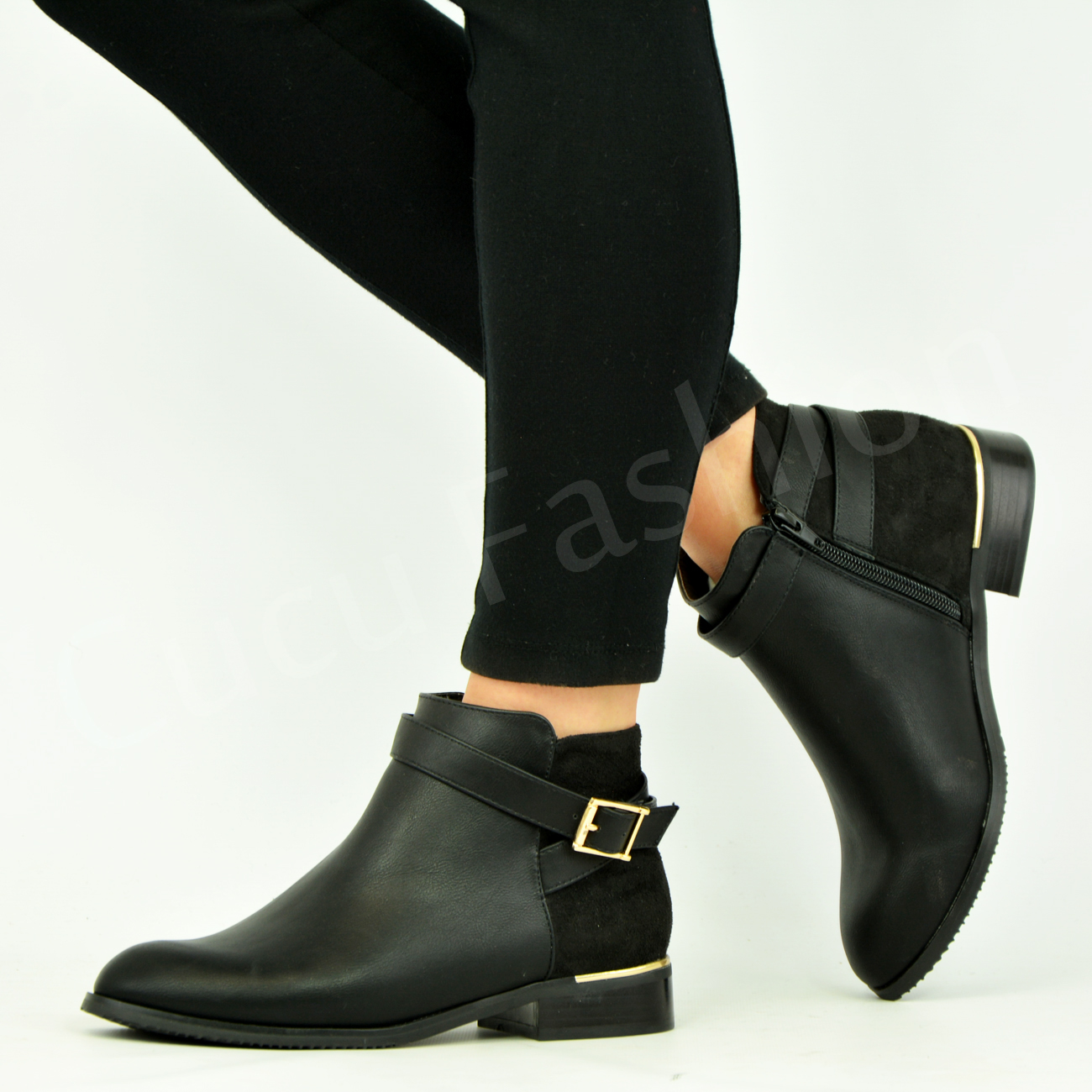 Ankle Shoes With Club Heel