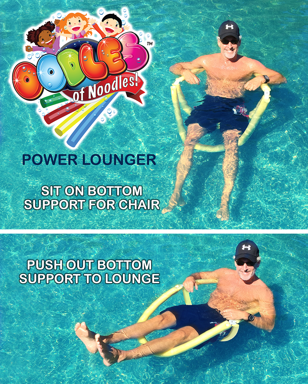 Power Lounger Floating Pool Noodle Water Chair Comfortable And Relaxing Ebay