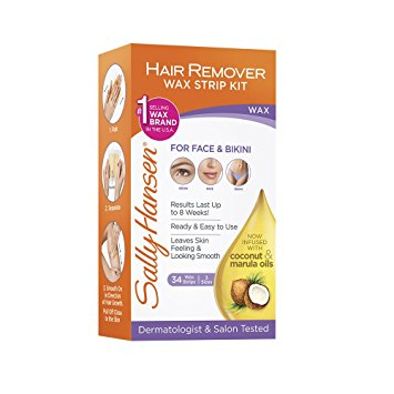 Sally Hansen Wax Strips Hair Remover Kit For Face, Brows & Bikini