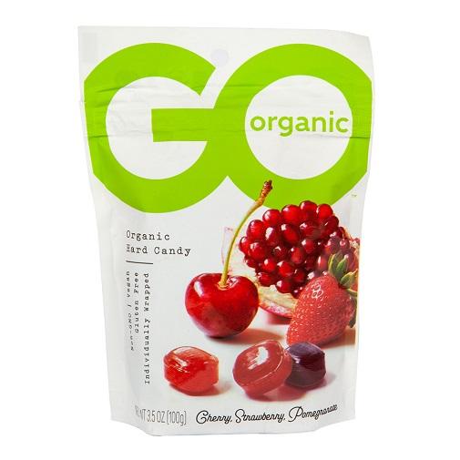 Go Organic Hard Candy Cherry, Strawberry, Pomegranate