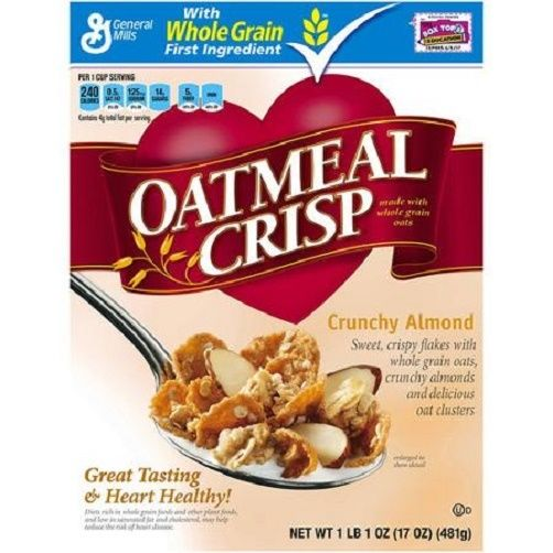 General Mills Crunchy Almond Oatmeal Crisp Cereal