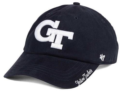 san francisco c0d6a 091ca Georgia Tech Yellow Jackets NCAA 47 Brand Shine On Adjustable Hat