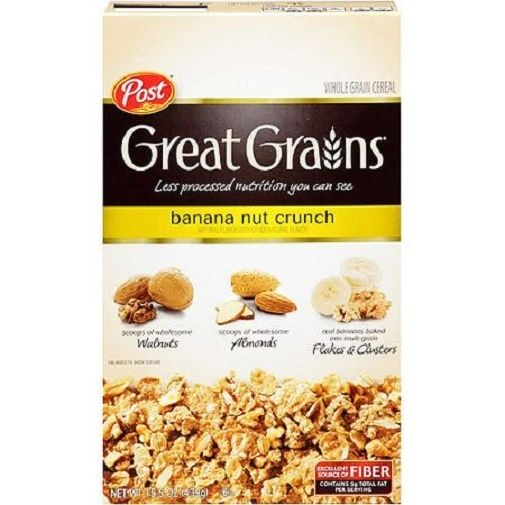 Post Great Grains Banana Nut Crunch Whole Grain Cereal