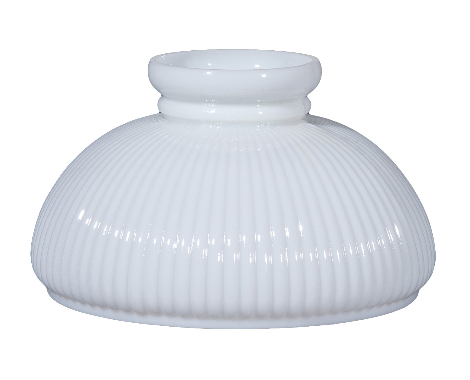 """B&P Lamp® 10"""" Opal Glass Student Shade, Low Top"""