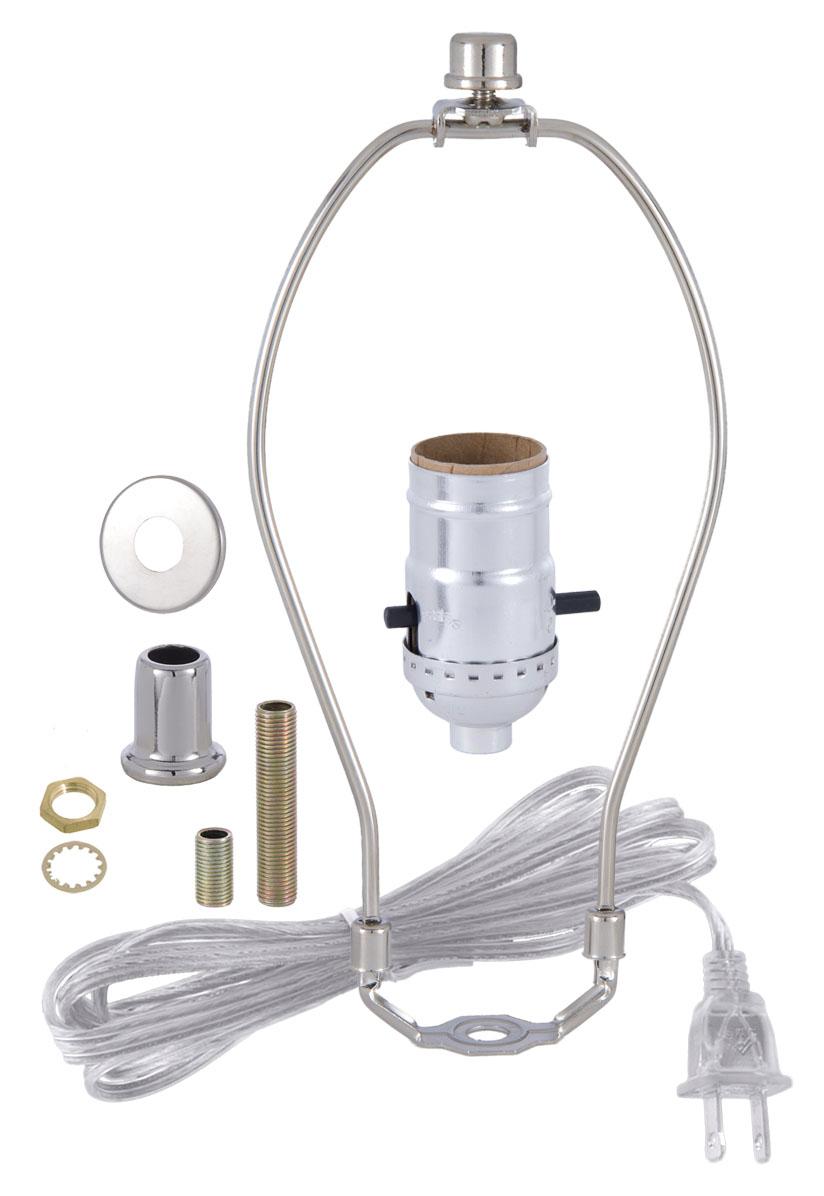 b p lamp table lamp wiring kit with push thru socket ebay rh ebay com lamp wiring kit home depot lamp wiring kit walmart
