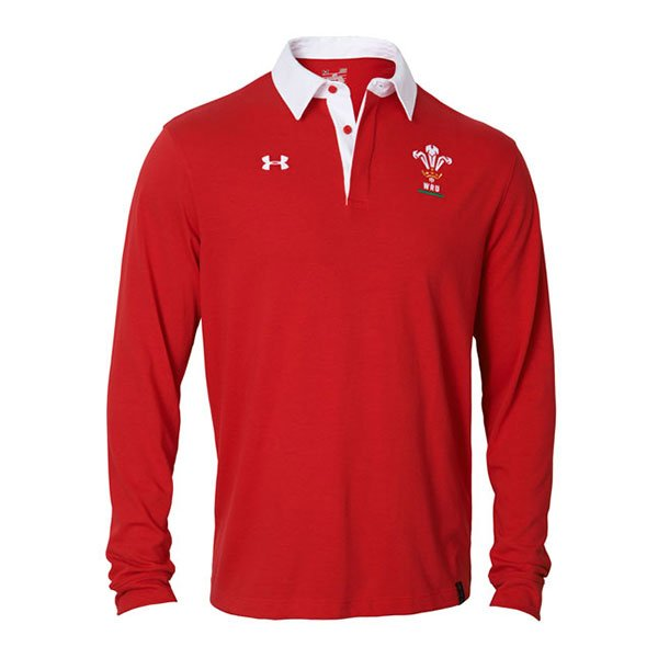 Under Armour Wales 2015 16 Wru Long Sleeve Rugby Polo