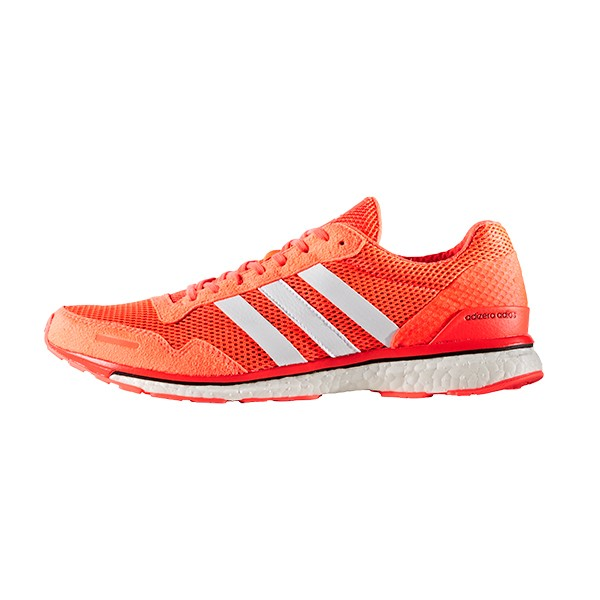 adidas aw16 mens adizero adios 3 boost running shoes solar red speed ebay. Black Bedroom Furniture Sets. Home Design Ideas