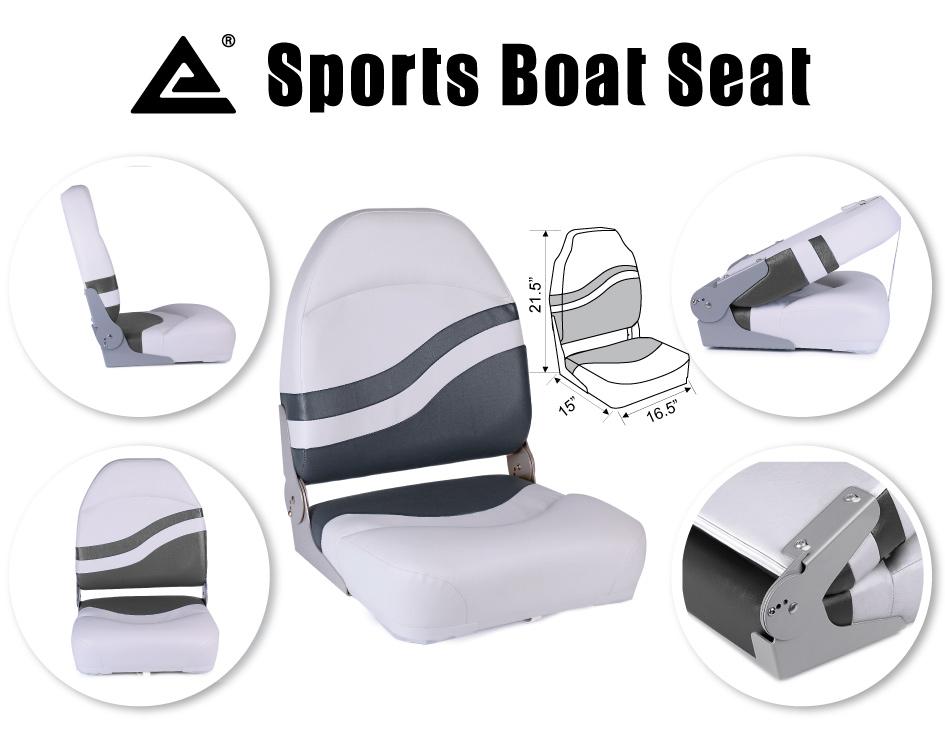 Leader Accessories New Camo Marine Folding Boat Seat Tan