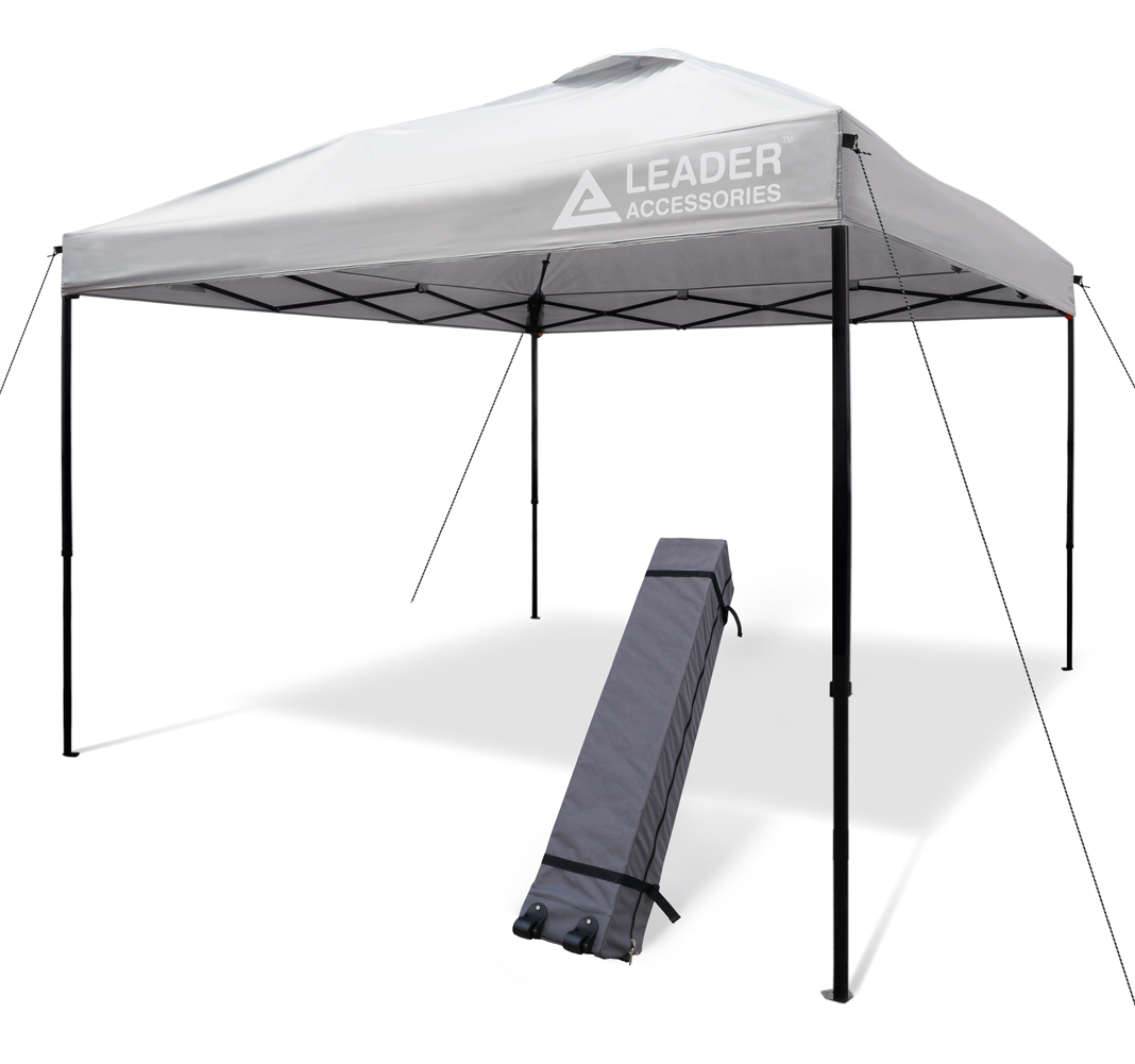 Leader Accessories 10x10  Straight Wall Instant  Canopy with wheeled Carry Bag  discount low price