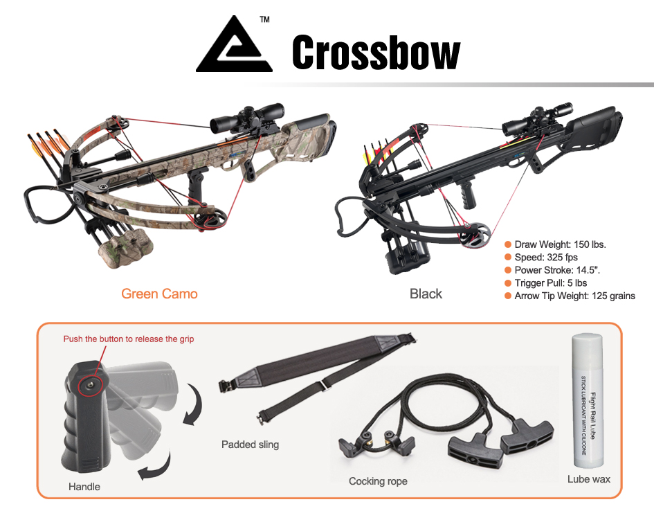 Leader Accessories Crossbow Package 150lbs Archery Hunting