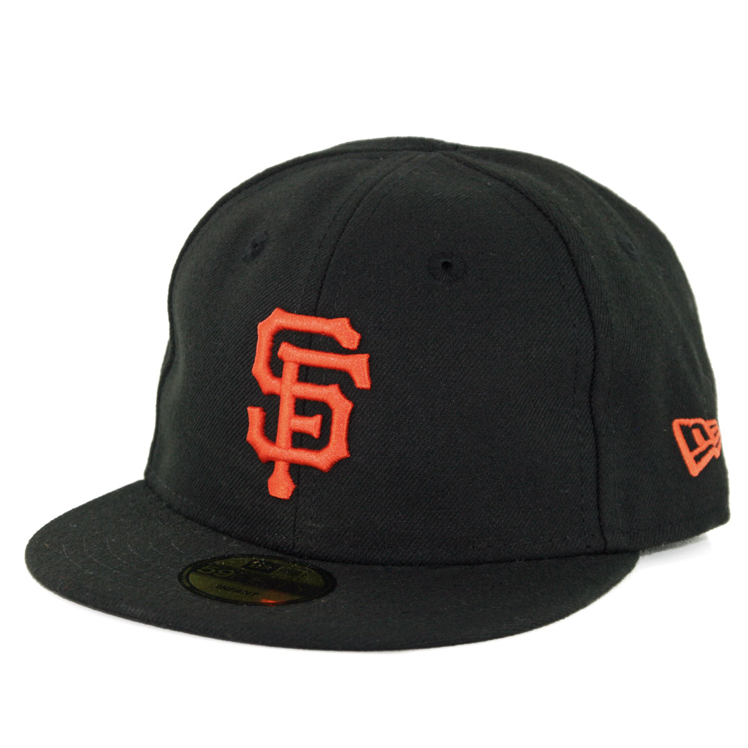 83bfb0204f1 New Era 5950 My First San Francisco Giants GAME Fitted Hat (Black ...