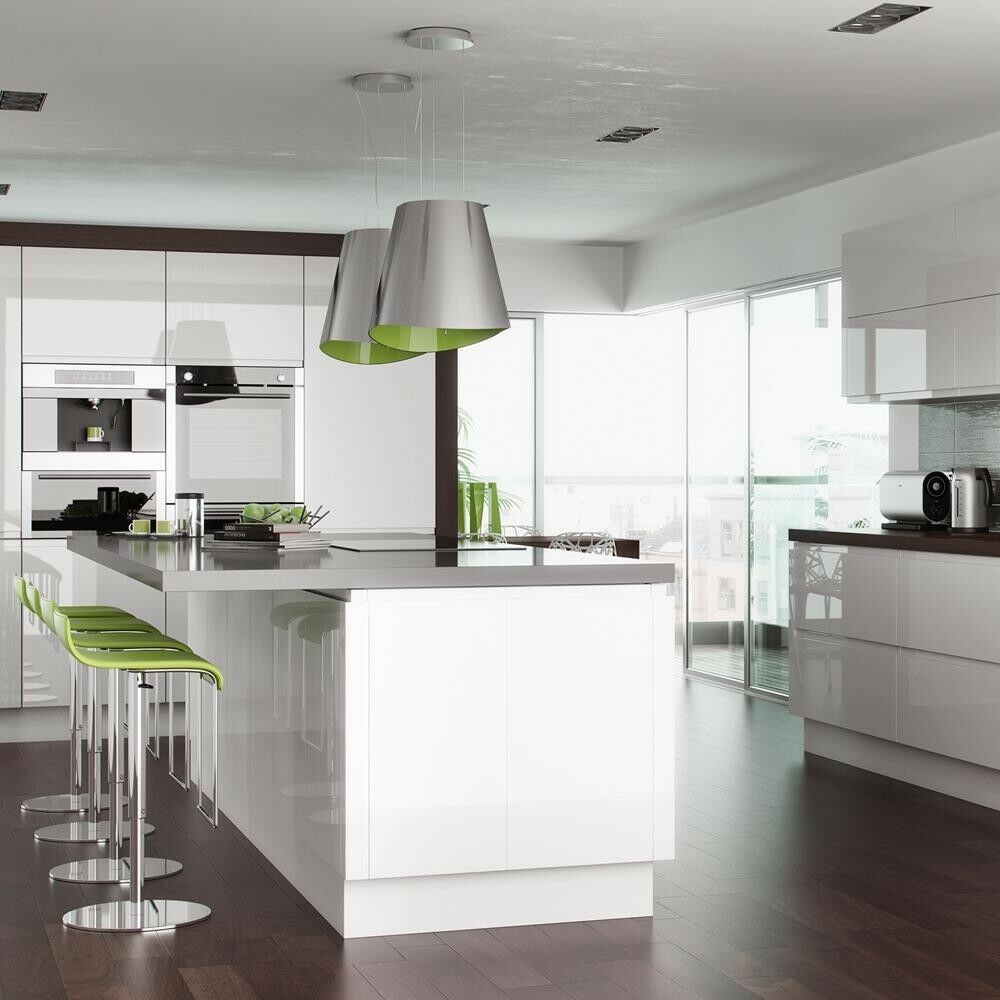 Kitchen Corner Base Unit Cabinet Soft Close Handleless ...