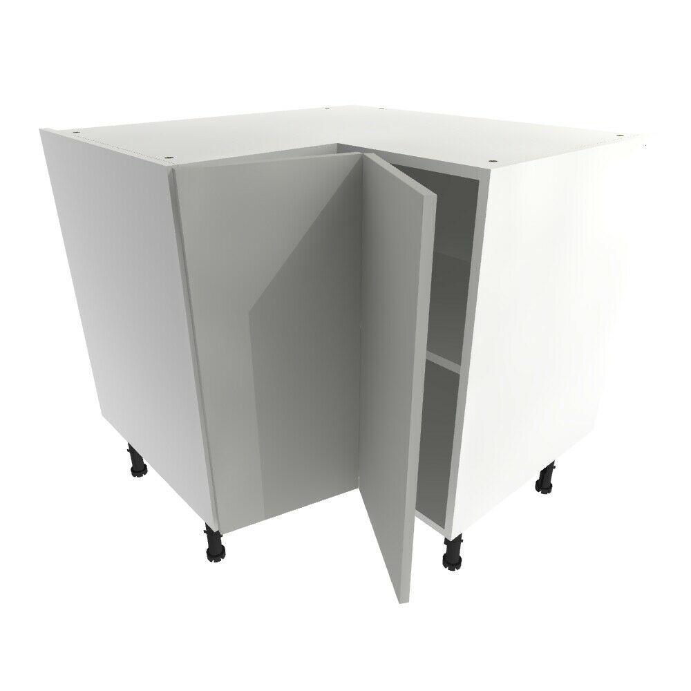 Miraculous Details About Kitchen L Corner Base Unit Cabinet Soft Close Vivo Slab Matt Light Grey Interior Design Ideas Gentotryabchikinfo