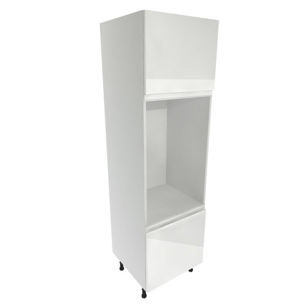 White Gloss Kitchen Cabinets Ebay: Kitchen Tall Oven Housing Cabinet Soft Close Handleless