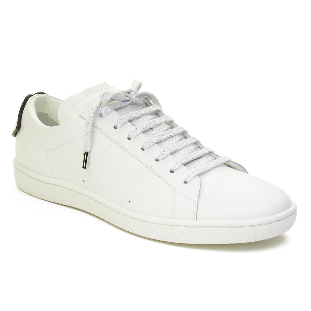 Sl/01 Leather Sneakers - WhiteSaint Laurent Jeu Confortable Dédouanement Frais D'expédition Bas Prix En Vente En Ligne Browse Vente Pas Cher collections zi3pGAqW