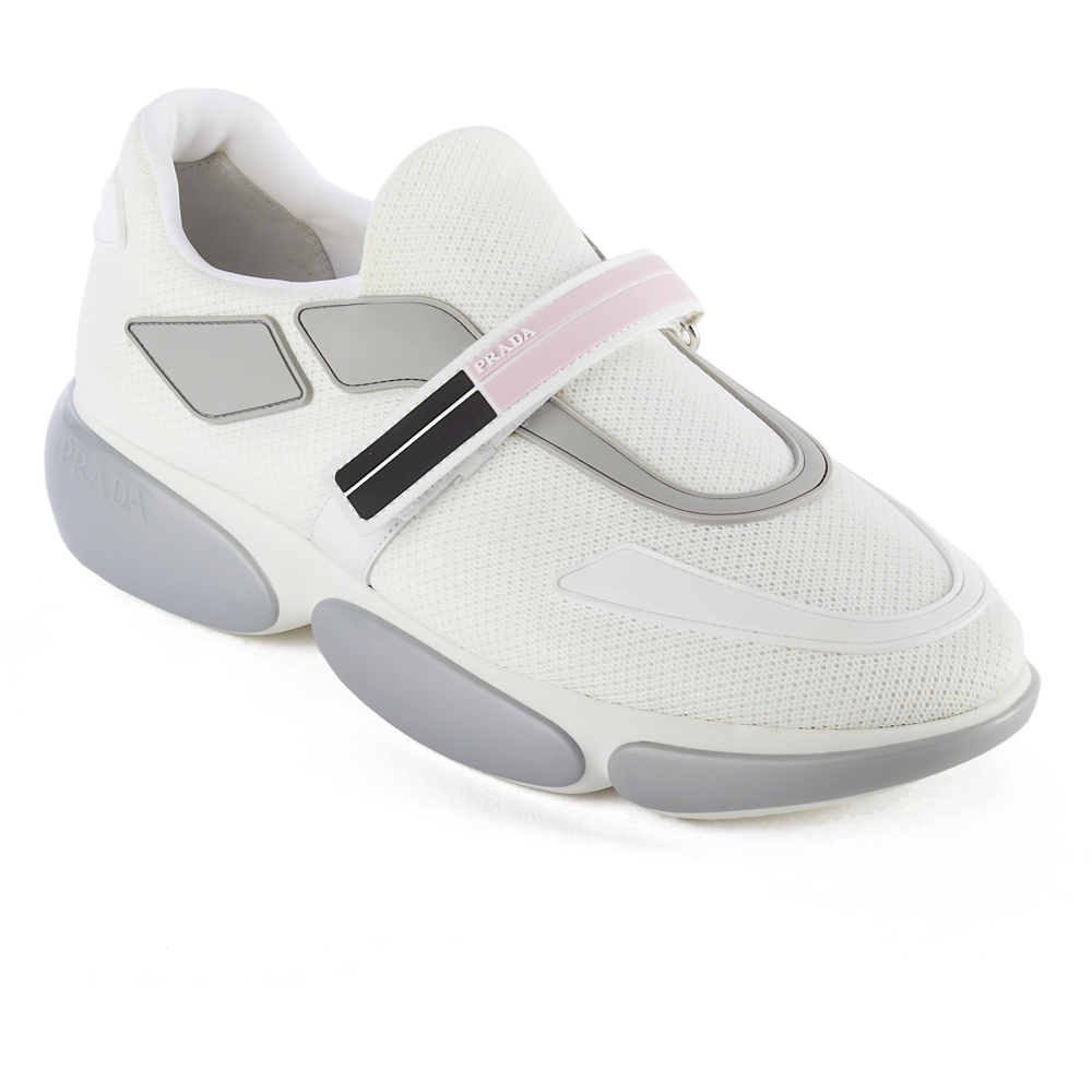 Prada Superior Quality and Design-Grey rubber inserts-Strap closure-Rubber sole-Made in Italy