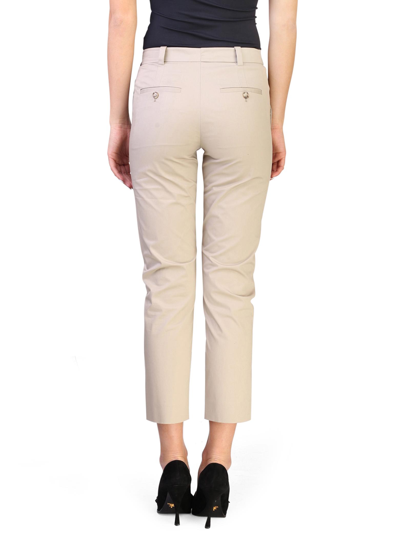 Prada Women's Cotton Slim Fit Pants Khaki by Prada