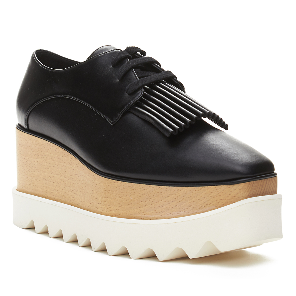 Stella McCartney Superior Quality and Design-Faux Leather-Wooden Platform-Made in Italy-75mm heel with 15mm platform
