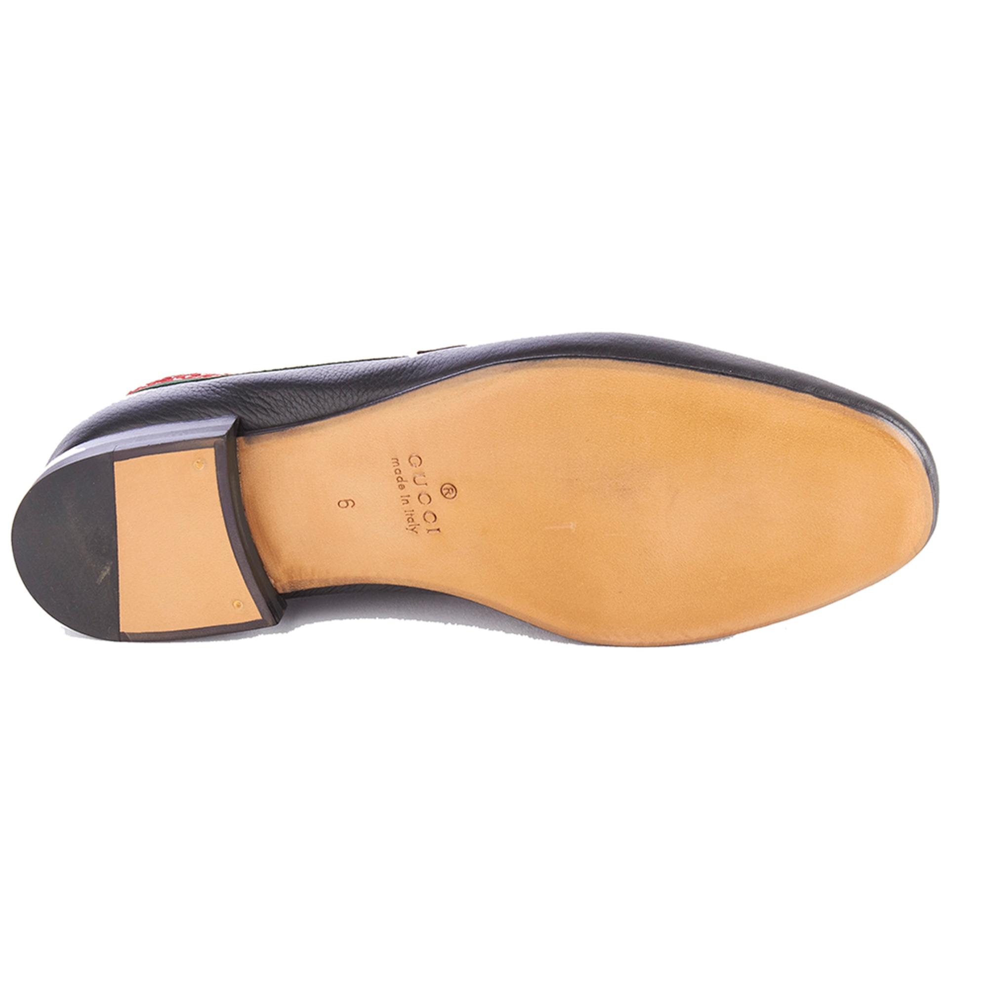 18e17b91ee8 Gucci Men s Leather L Aveugle Par Amour Loafers Black Shoes