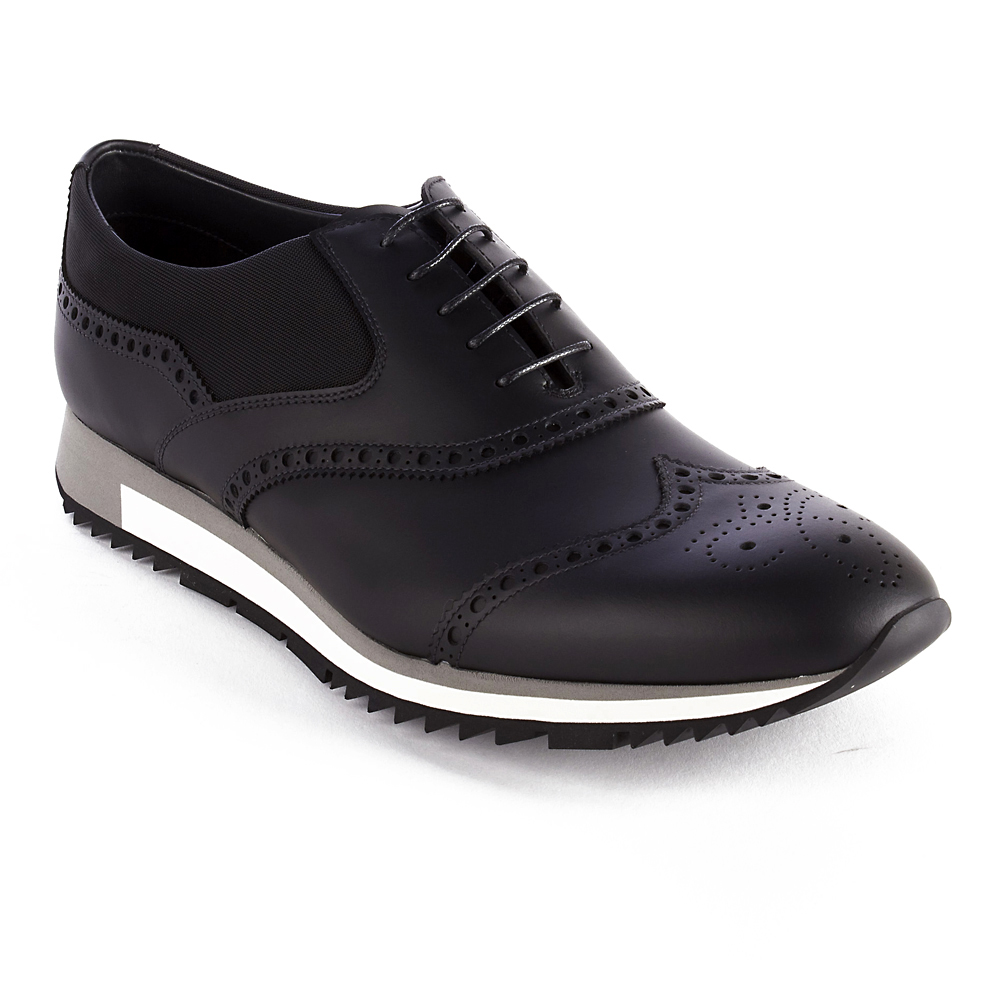Prada Signature Design and Quality-Brogue Pattern-Side fabric insert-Made in Italy-All sizes are US sizes please refer to the size chart for your size.