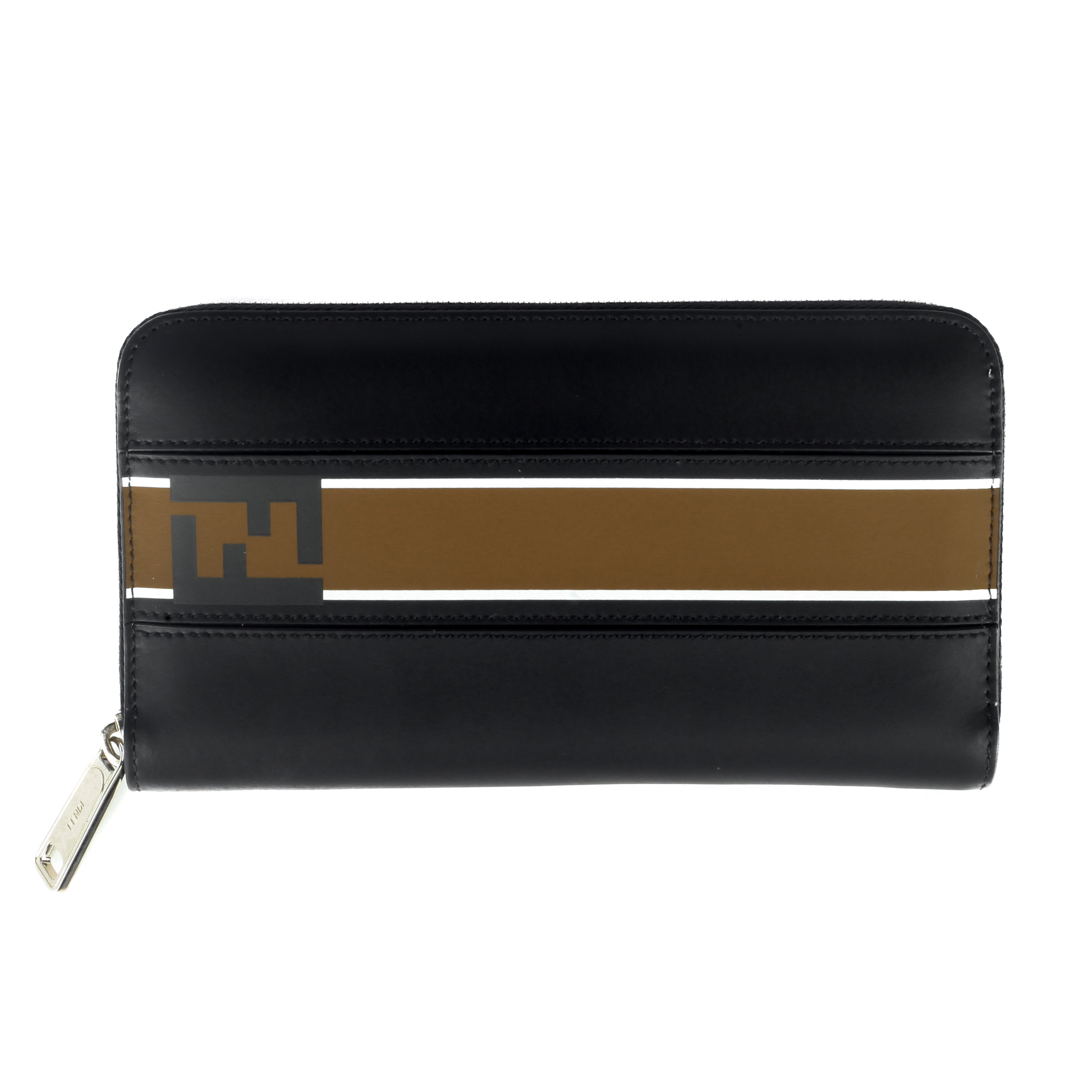 c4bbb20ab98 Fendi Unisex Leather Continental Zipper Wallet Black 8057941663490 ...