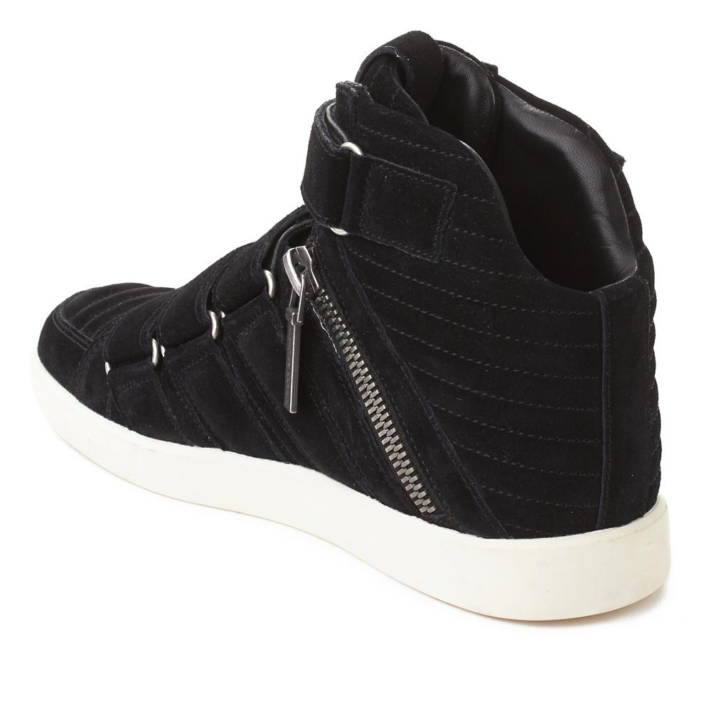 9caddf8d14a Pierre Balmain Men's Suede Quad Strap Hi Top Sneaker Shoes Black ...