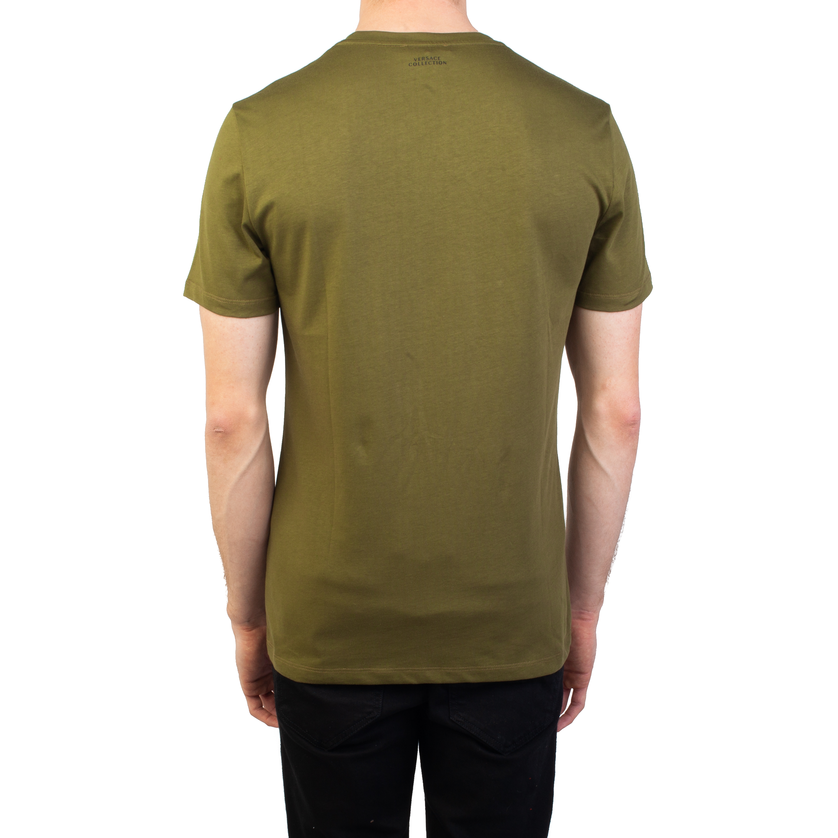 d957d2f0 Versace Collection Men's Cotton Baroque Graphic T-Shirt Military Green