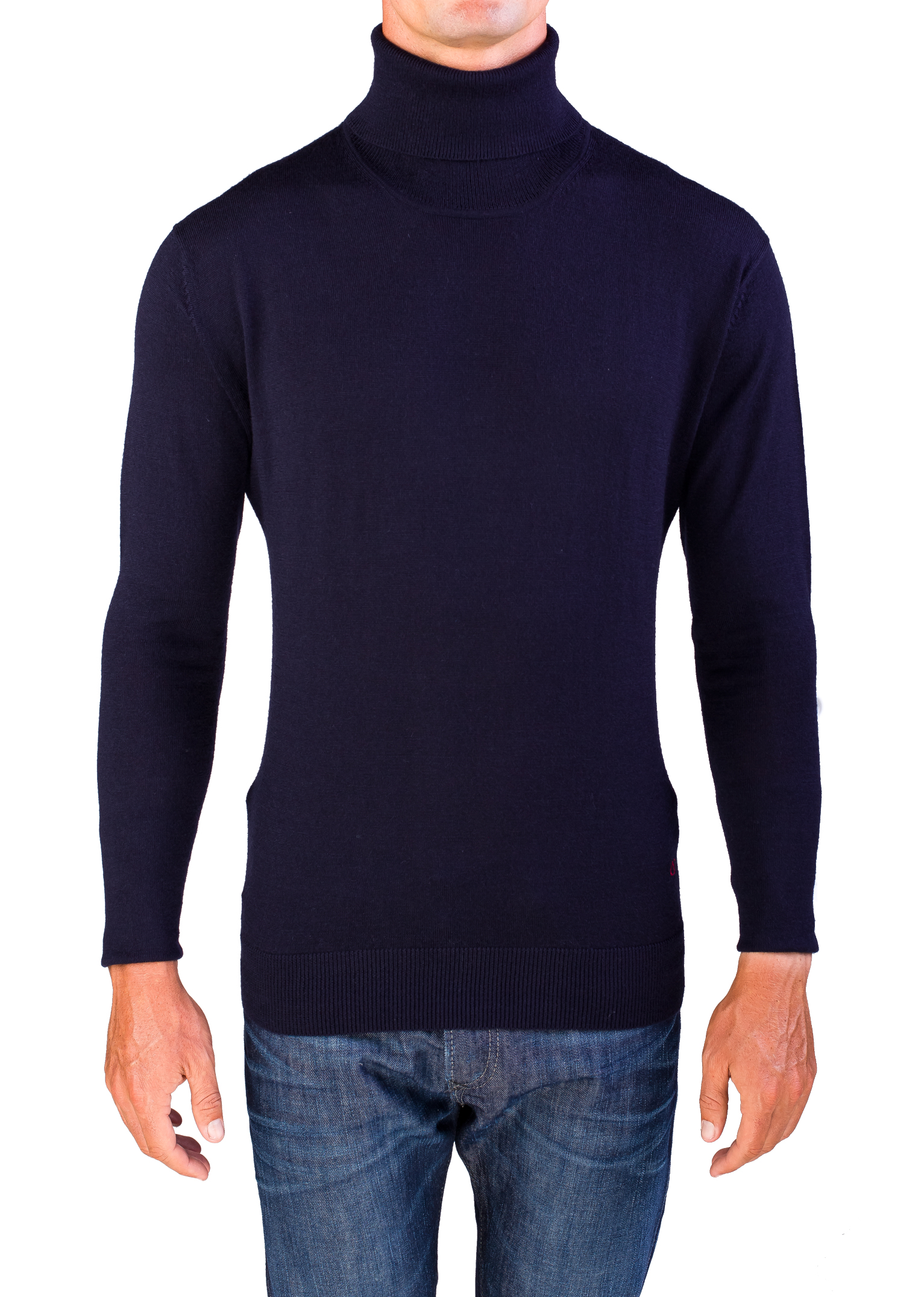Valentino Men's Turtleneck Sweater Dark Navy Blue | eBay
