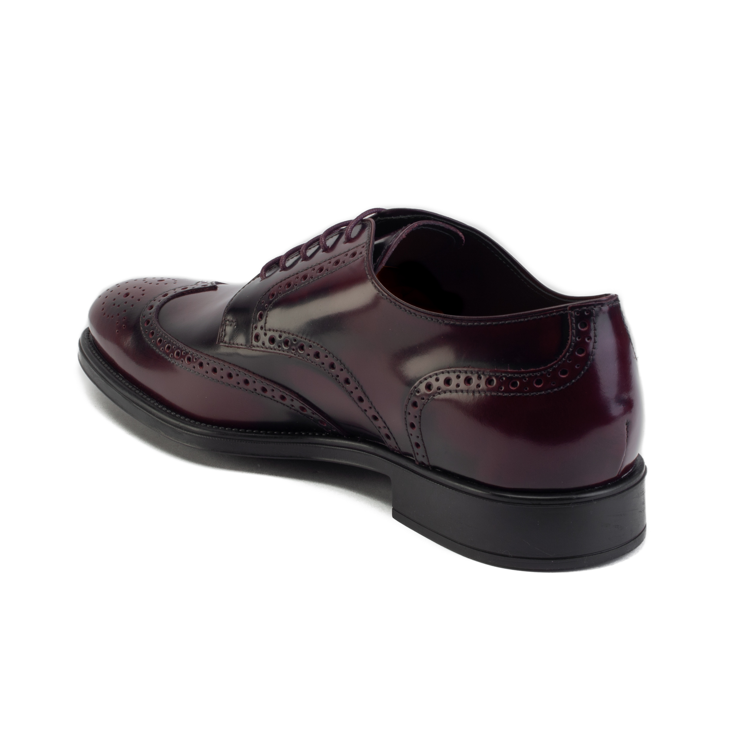 d215d5915b6 Tod's Men's Leather Derby Brogue Oxford Dress Shoes Burgundy | eBay