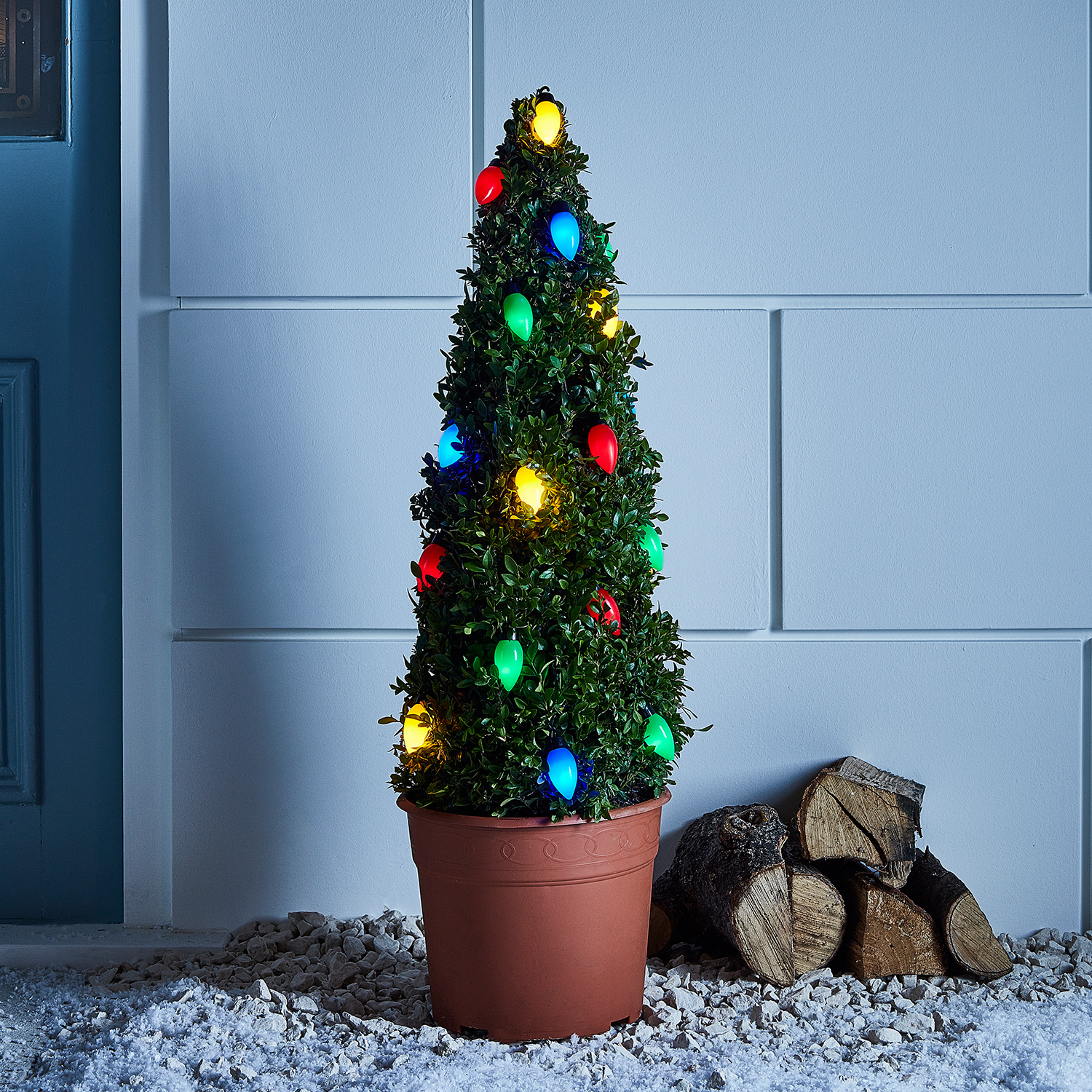 Details About 20 Multi Colored C9 Style Led Outdoor Battery Operated Christmas String Lights