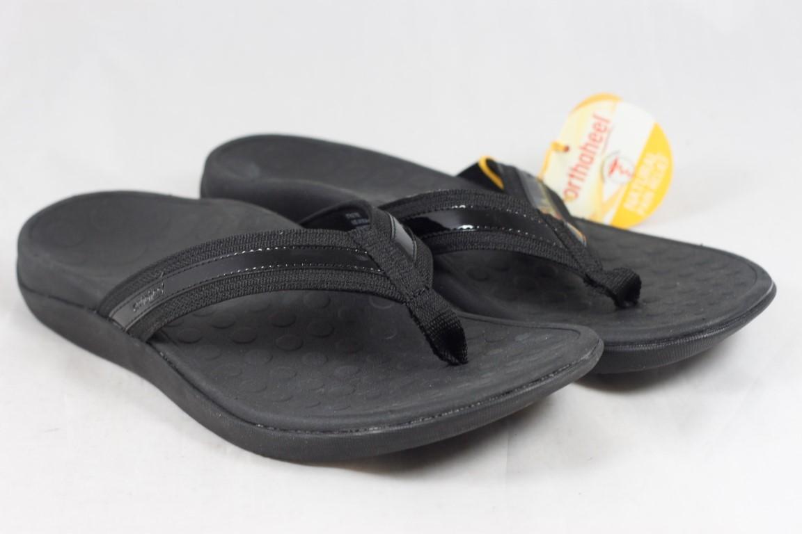 478d2c729898 Details about Vionic Women s Orthaheel Tide Black Sandals