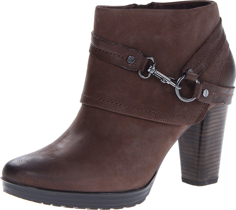 Clarks Women/'s Jolissa Topaz Brown Leather Boot