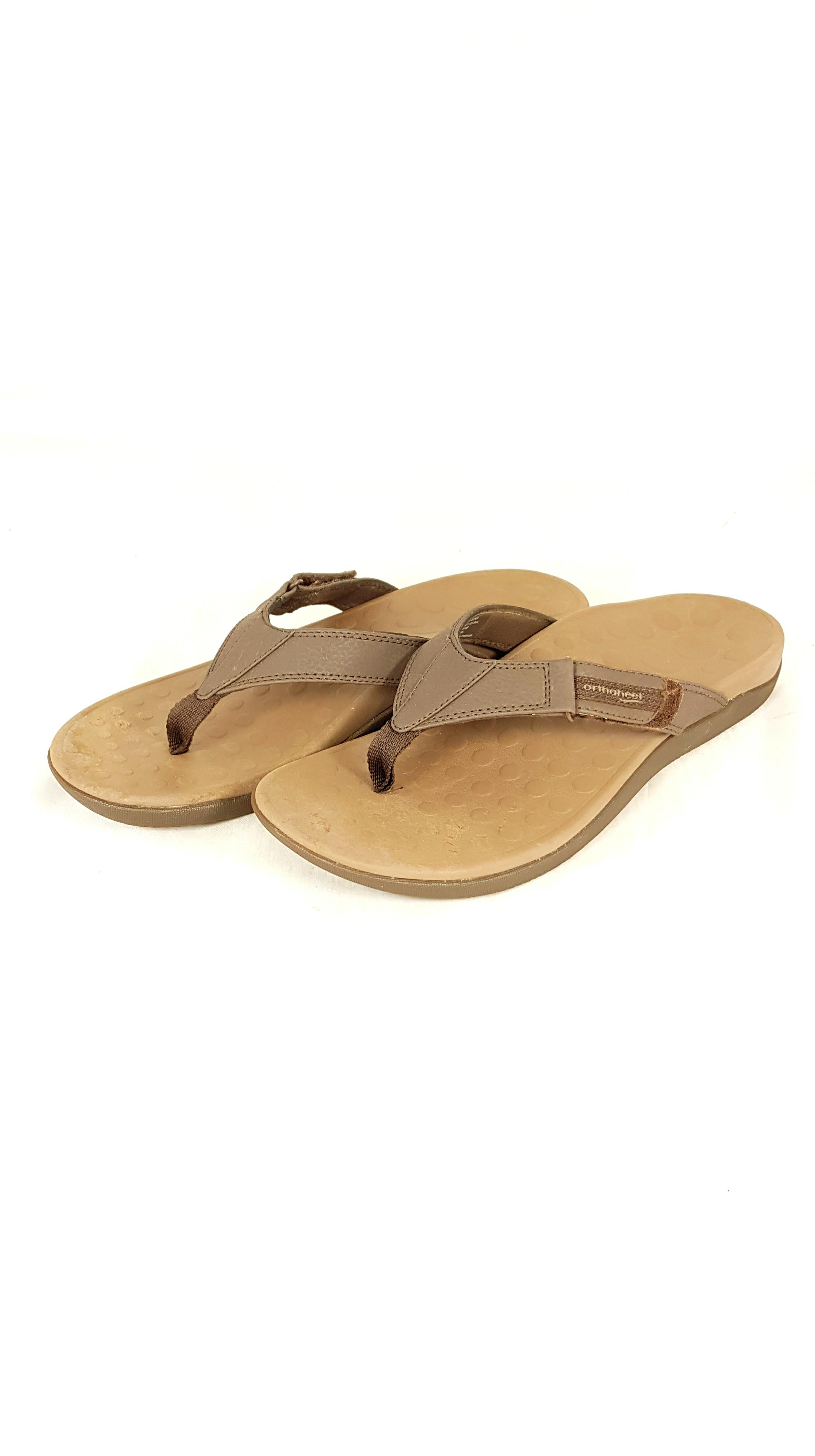 99981d2546cd Details about Men s Vionic with Orthaheel Chocolate Ryder Sandals UK 10    EU 44   US 11