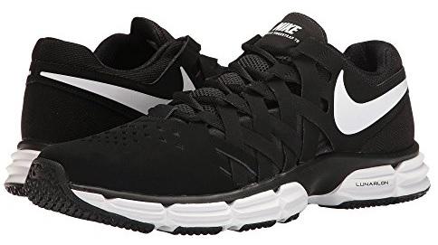 Nike Mens NIKE LUNAR FINGERTRAP TR 4E, BLACK/WHITE-BLACK, 11 Wide US