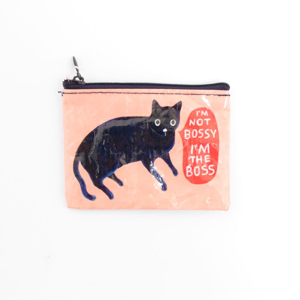 Blue Q Coin Purse I/'m Not Bossy Black Cat