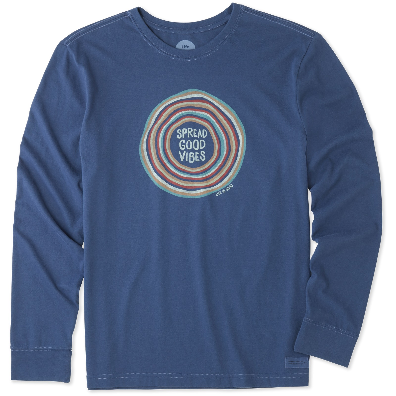 826b52267bd Details about Life is Good. Mens Long Sleeve Crusher Tee  Good Vibes Ripple