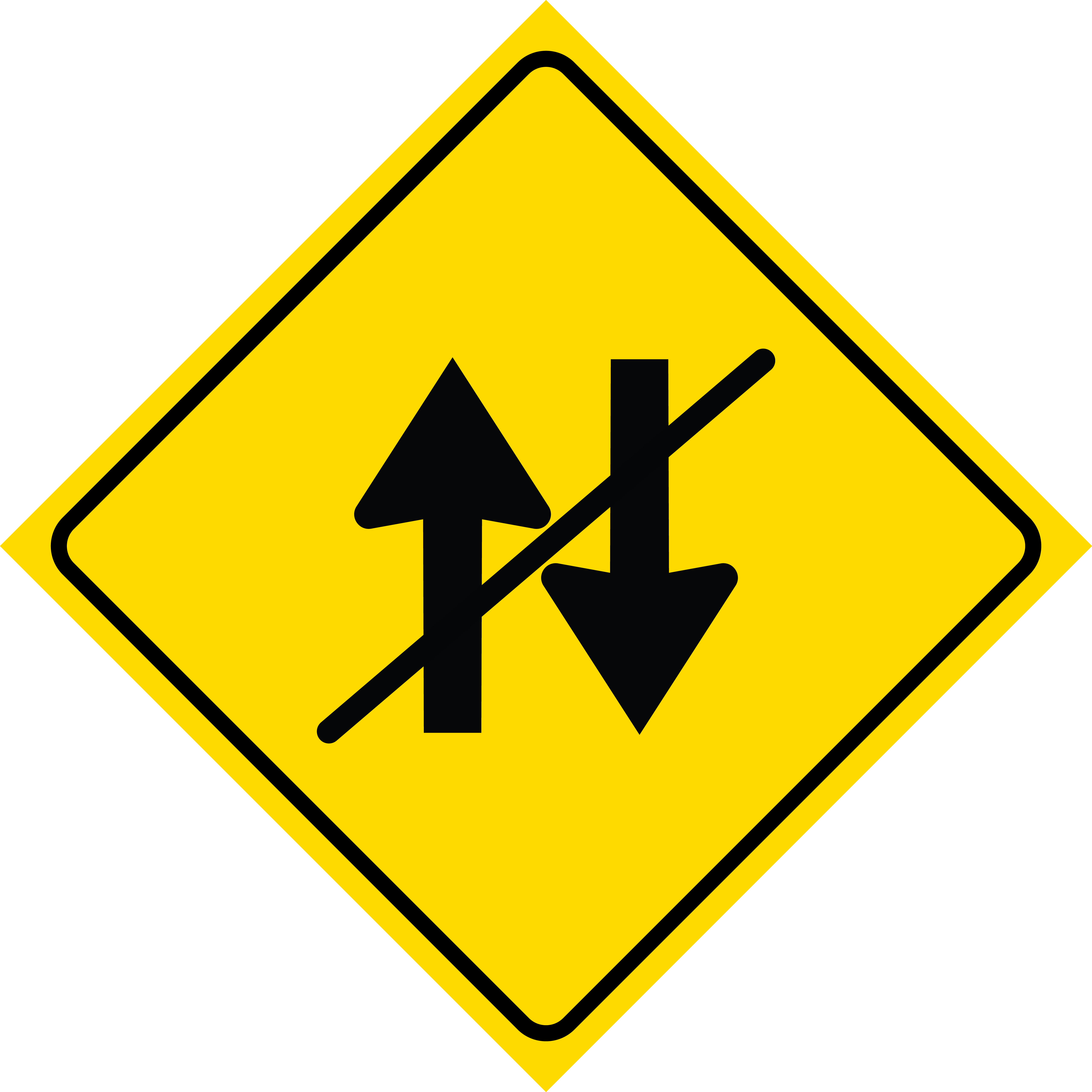 Details about Diamond No Up Down Arrow Street Road Sign Plastic Square  Single Sign, 12x12