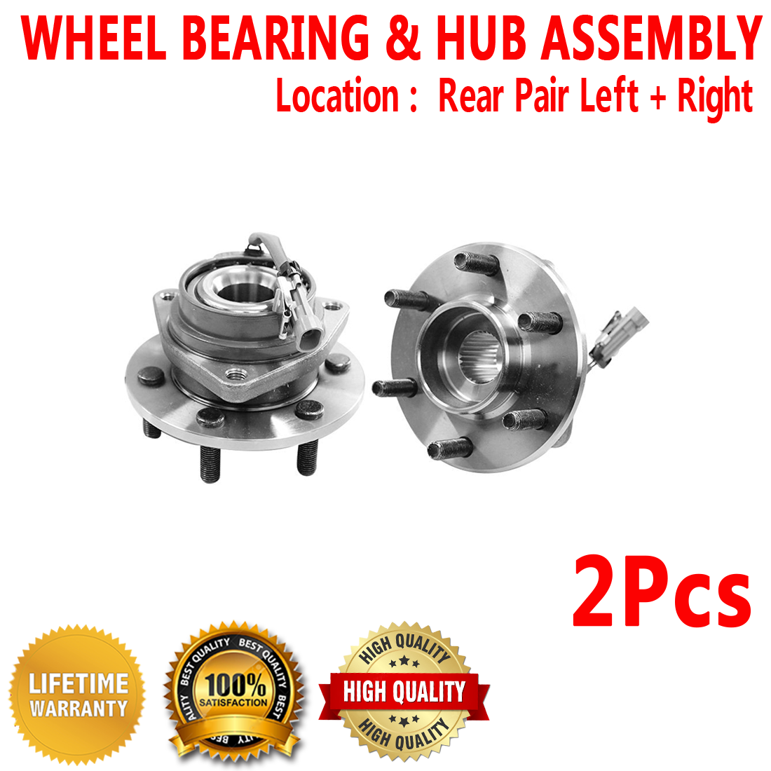 Included with Two Years Warranty 2004 fits Cadillac SRX Rear Wheel Bearing and Hub Assembly Left and Right - Two Bearings Note: AWD RWD