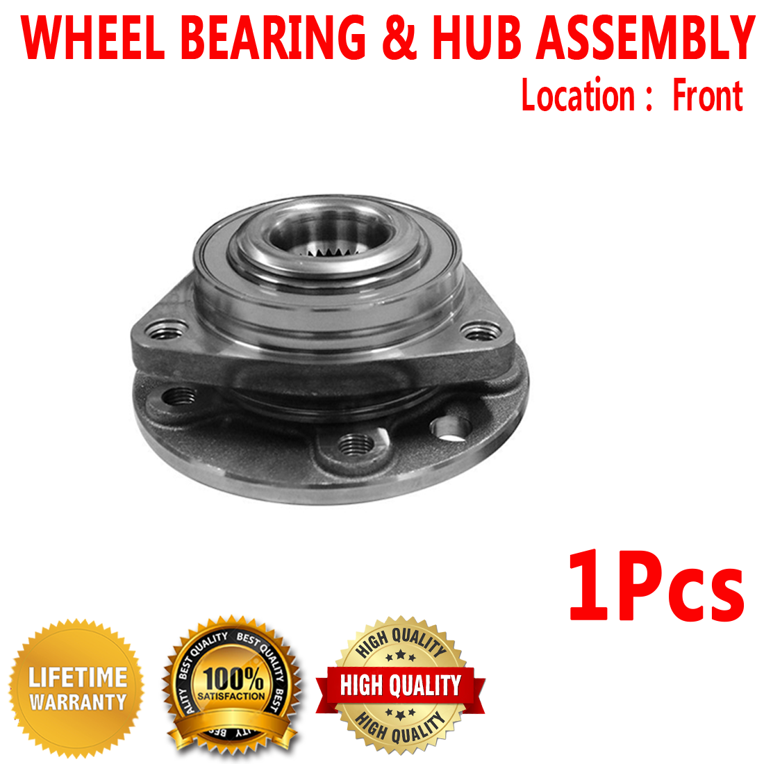 Left and Right Note: AWD, FWD - Two Bearings Included with Two Years Warranty 2006 fits Chrysler Pacifica Front Wheel Bearing and Hub Assembly