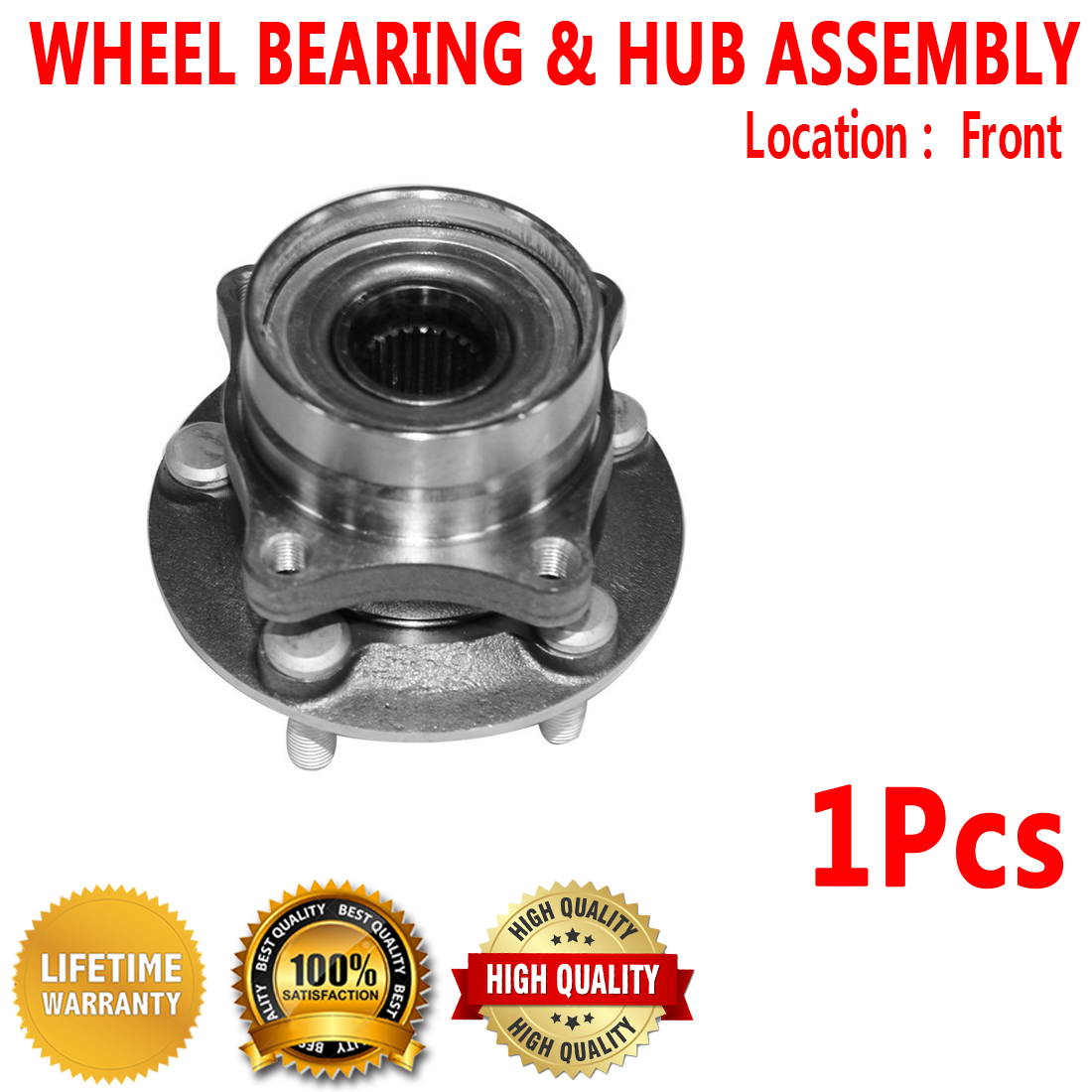 2009 fits Toyota Prius Front Wheel Bearing and Hub Assembly One Bearing Included with Two Years Warranty Note: FWD