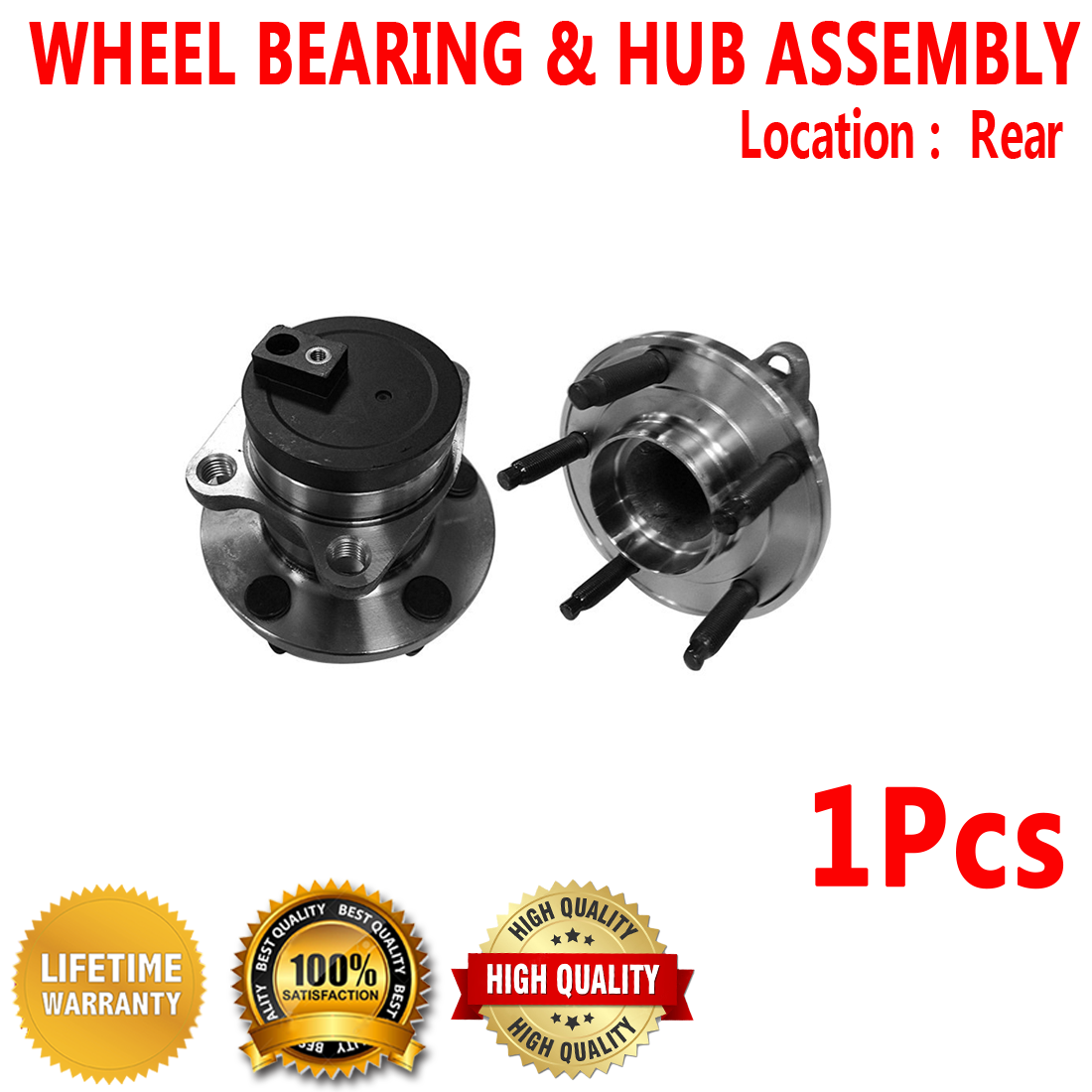 One Bearing Included with Two Years Warranty 2011 fits Mazda 3 Rear Wheel Bearing and Hub Assembly Note: FWD